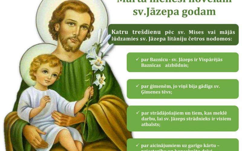 Marta mēnesi novēlam sv.Jāzepa godam